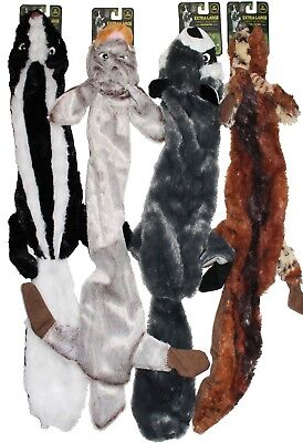 "4-PACK CLEARANCE!!  4-PACK XL 28"" Stuffing Free Squeaker Dog Puppy Plush Toys"