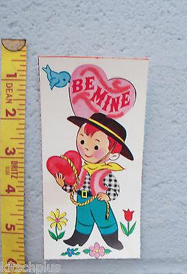 Vtg Valentine Card 50's Cowboy Spanish Gaucho Hat Bluebird Be Mine Lariat UNUSED - Spanish Gaucho Hat