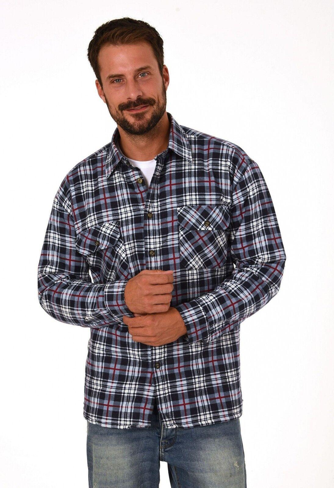 Thermo Flanell Arbeitshemden in Holzfällerkaro-Optik - 50503