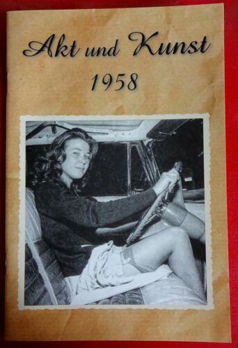 foto 1958 Männer magazin NACKT AKT & KUNST behaart Frau DDR schöne Brüste jung