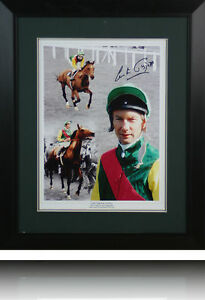 Lester Piggott Signed photo Display