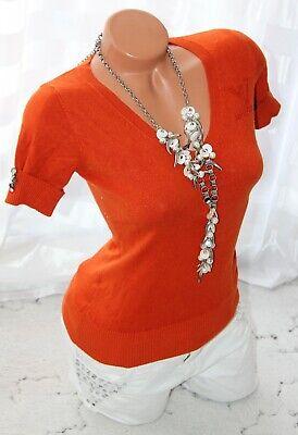 Boho Pullover Top (Pullover Top Hemd Bluse Pulli Rost orange Tunika S M 36 38 Strick Jacke Boho)