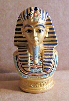 ORNAMENT TUTANKHAMUN MASK BUST RESIN MODEL EGYPTIAN PHARAOH ROYAL FAMILY