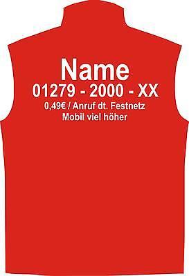 Kostüm Dschungel (Dschungelcamp Weste für Dschungel Camp Fans rot Gruppen Kostüm Dschungelcamp)