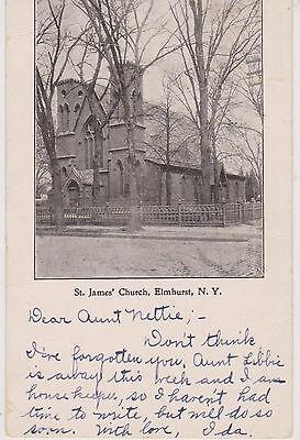 ELMHURST QUEENS ST. JAMES CHURCH OF NEWTOWN, B'WAY & UNION FOUNDED 1704, LI, NYC - Elmhurst Queens