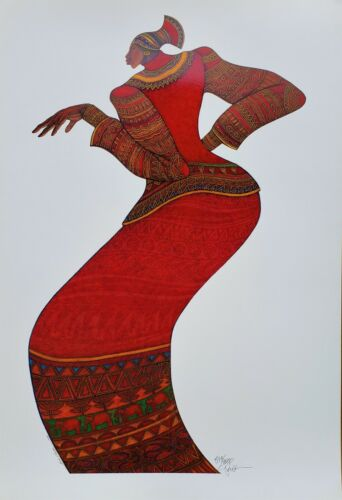"""CHARLES BIBBS """" LADY IN RED """"  Limited Ed. Print (Sold Out)"""