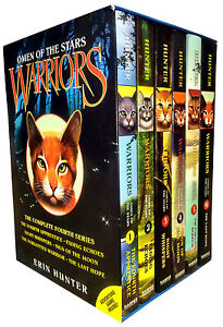 Warrior Cats Omen of the Stars Series 6 Books Collection Box Set Erin Hunter NEW