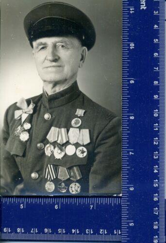 1974 WW Military Vintage Photo  USSR War hero awards