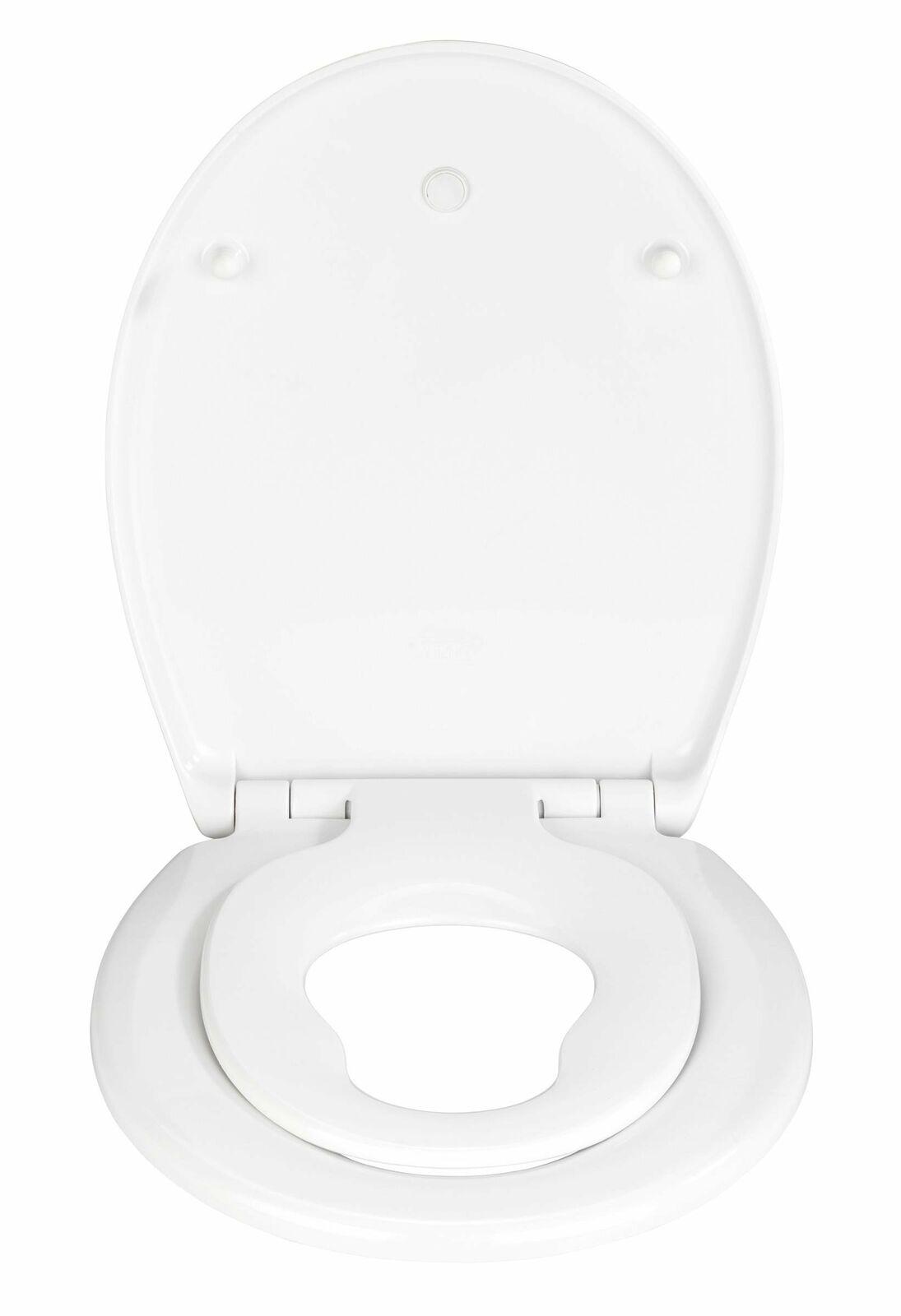 Doppel-WC-Sitz, integrierter WC-Sitz für Kinder und Erwachsene, DELOS WENKO