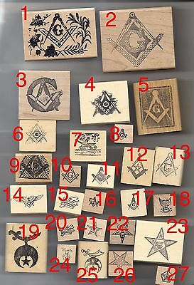 Masonic Rubber stamps Mason Shrine Order Eastern Star Knights Templar various