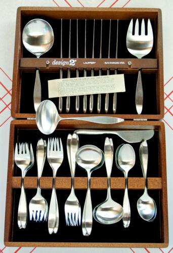 Unused 44 pc Lauffer Design 2 Set with 8 Settings, Serving Pieces & Original Box