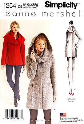 Simplicity Sewing Pattern 1254 Women's 4-12 easy lined Coat and Jacket