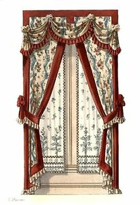 Victorian Curtains 4counted Cross Stitch Pattern 427