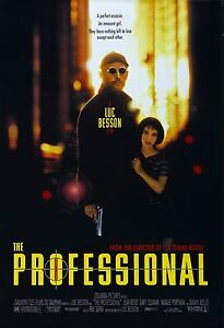 THE PROFESSIONAL LEON movie poster 11 x 17 inches JEAN RENO, NATALIE PORTMAN