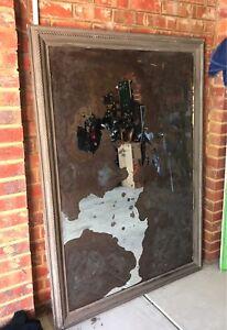 Vintage antique rustic mirror - extra large