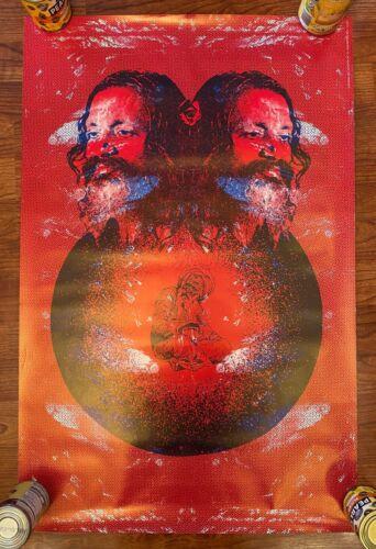 Vintage & Original 1968 Satty Maharashi Mahesh Yogi Psychedelic Poster Beatles