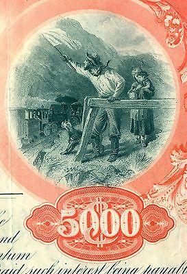 Chicago Rock Island & Pacific Railroad Bond Stock Certificate