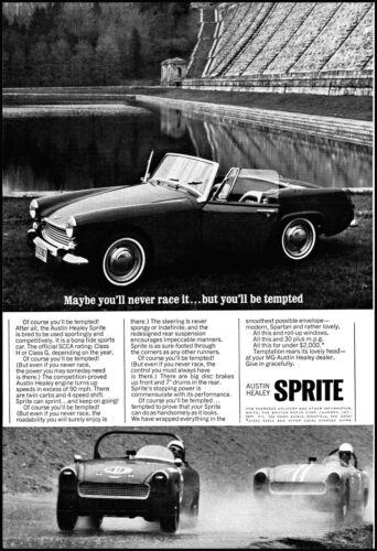 1965 Austin-Healey Sprite Car sports car racing vintage photo print ad  L22