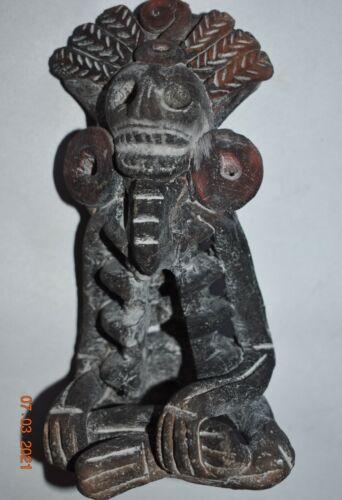 "WOW!!! PRE COLUMBIAN AZTEC DEATH FIGURE 7"" PROV"