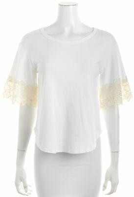 SEE BY CHLOÉ White T-shirt Sz M 656400
