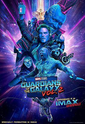 "Guardians of the Galaxy Vol. 2 ORIGINAL S/S 13""x19"" IMAX Movie Poster MINT"