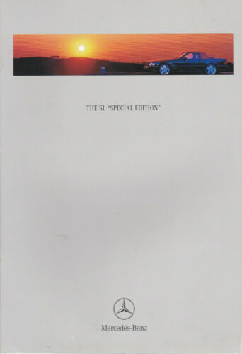 brochure 1997 MERCEDES-BENZ SL SPECIAL EDITION !!! English Text ________________