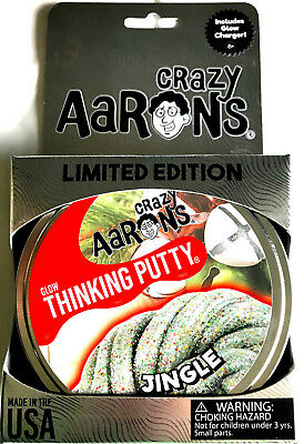 Jingle Glow In The Dark Holiday Christmas Crazy Aarons Thinking Putty 3 2Oz