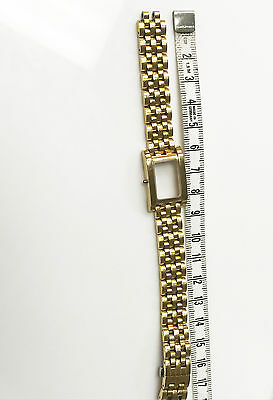 STAINLESS STEEL GOLD 12MM DEPLOYMENT CLASP WITH PUSH BUTTONS BRACELET WITH (Case Deployment Clasp)