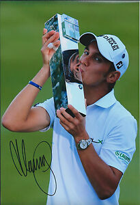 Matteo-MANASSERO-SIGNED-Autograph-12x8-Photo-AFTAL-COA-PGA-Champion-GOLF-Winner