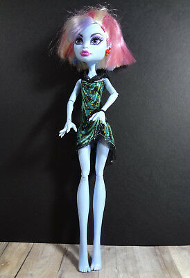 Used, Monster High Doll Abbey Bominable Home Blue Body Dressed  Updo Hair for sale  USA