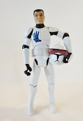 Star Wars Clone Wars Clone Trooper Echo Action Figure Hasbro 2008 3.75""
