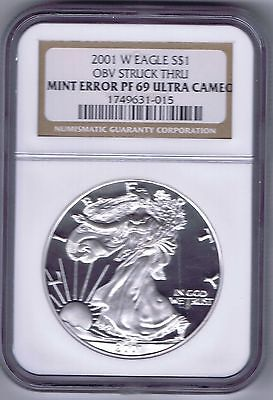 Click now to see the BUY IT NOW Price! 2001 W SILVER EAGLE MINT ERROR NGC GRADED PF 69 ULTRA CAMEO  LOW POPULATION