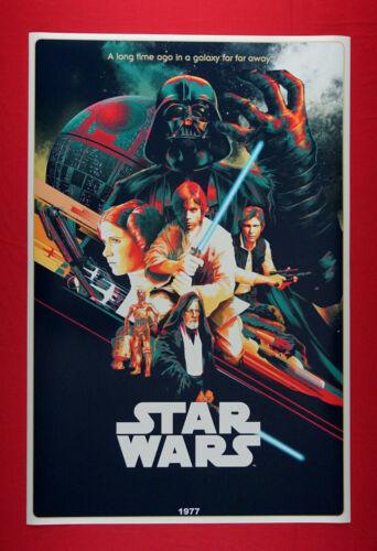 Star Wars Darth Vader Leia Luke Han Solo C3PO Art Galaxy Movie Poster 24X36 SWVN