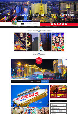 Las Vegas Usa Hotel Travel Website For Sale Affiliate Mobile Responsive Design
