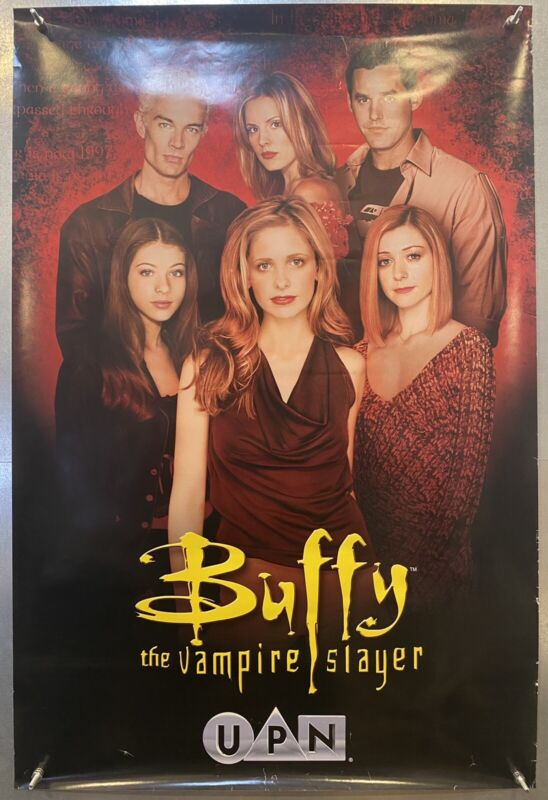 "RARE Buffy The Vampire Slayer UPN Debut Rare Original Promo Poster Ad 24"" x 36"""