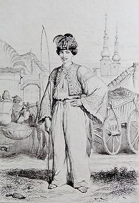 Valerio , Theodore (1819-1879) Radierung 1855: PAYSAN SLOVAQUE DE MORDERDORF