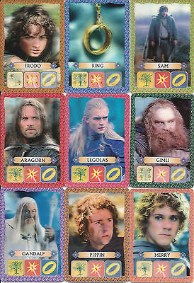 2002 Kellogg's 3D LORD OF THE RINGS The Two Towers German  16 Card Set