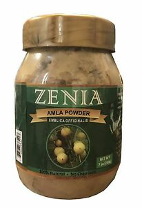 200g Zenia Amla Powder Bottle Indian Gooseberry Hair Care Natural Vitamin
