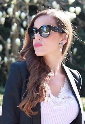 $600 Fendi Cat Eye Black Rhinestones Sunglasses Authentic (Cateye 600)