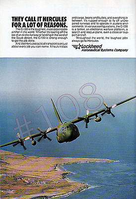 C-130 HERCULES Lockheed Aeronautical Systems ADVERT Original 1993 Advertisement