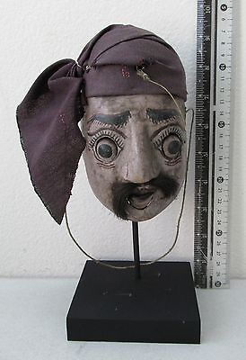 VINTAGE Teak Wood Puppet Head Movable Mouth and Eyes