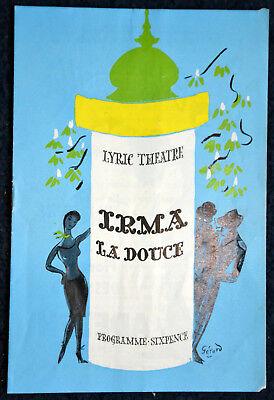 1958 IRMA LA DOUCE Theatre Programme KEITH MICHELL  ELIZABETH SEAL  DAVID EVANS