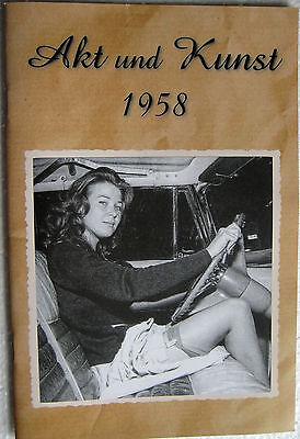 Magazin Akt Fotografie Foto Busen Brust Popo Männermagazin Akt & Kunst 1958