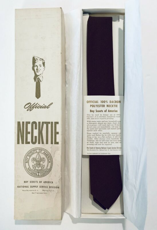 Official Vintage Necktie - Boy Scouts of America BSA With Box & Instructions