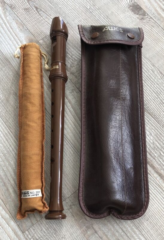 Lot Of 3 Aulos Recorders Used 2 with Cleaning Tools Nos. 207 & 209 Plus