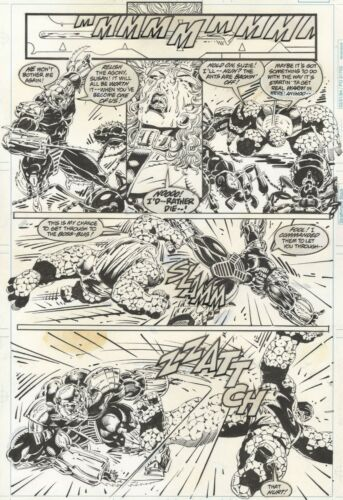 FANTASTIC FOUR UNLIMITED #9 PAGE 44! Herb Trimpe! Thing Battle page!