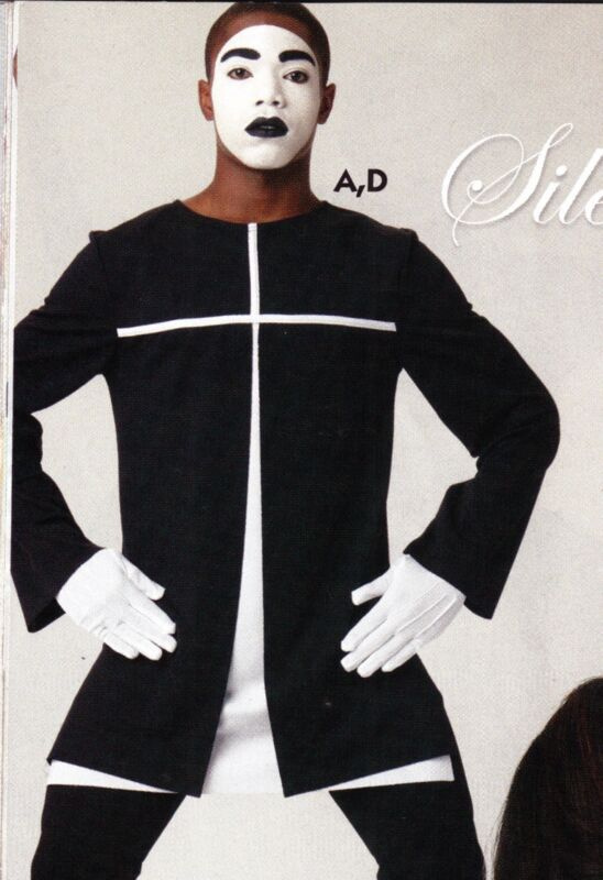 Mens Praise Dance Liturgical Church Longsleeve Pullover Black/white Mime