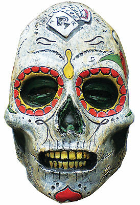 Day Of The Dead Themed Halloween Party (Day of the Dead Zombie Latex Adult Mask Skull Horror Movie Theme Party)