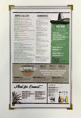 Cafe Menu Covers - 8.5x14 2-view Clear Vinyl Binding Wgold Corners 25 Pk