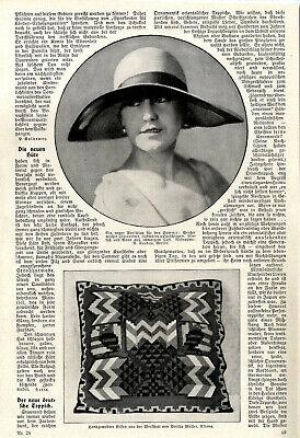 20er Jahre Mode Die neuen Hüte & Der neue deutsche Teppich Bilder/Text von 1926